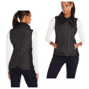 Prana Diva Sherpa Lined Vest Asymmetrical Zipper